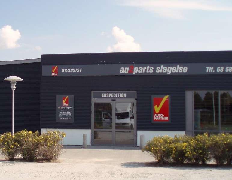 AutoPartner facadeskilte i aluminium