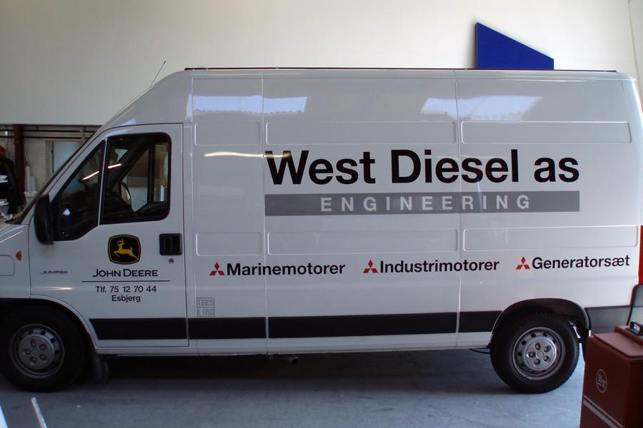 Bilreklame - firmabil til West Diesel