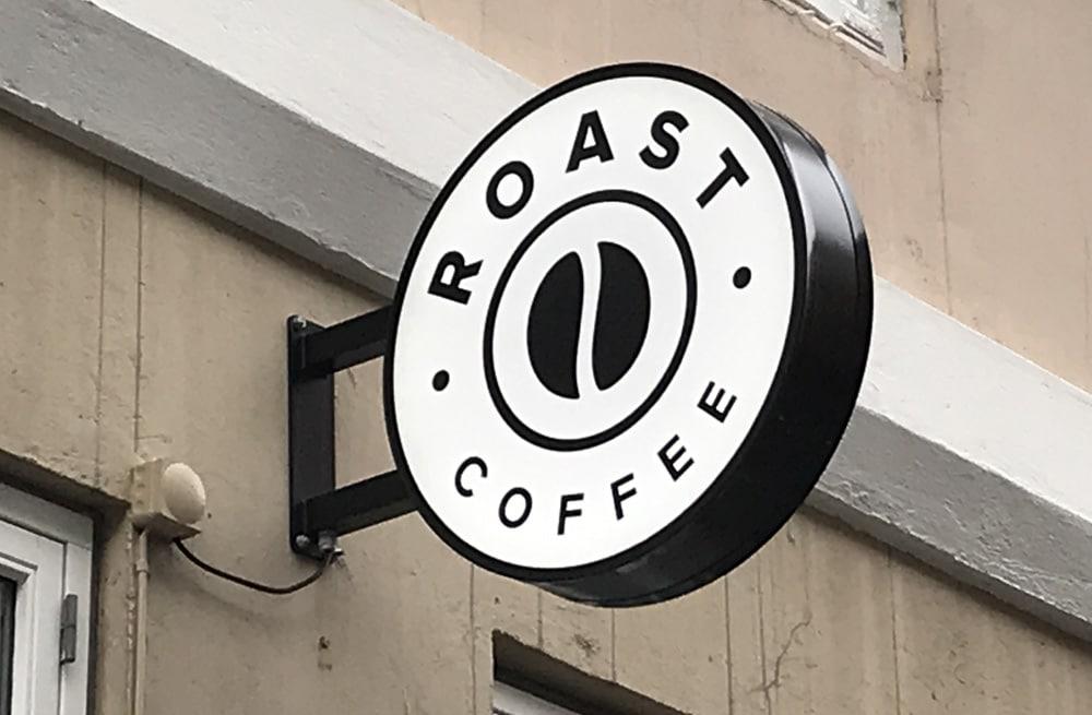 Dobbeltsidet LED lysskilt - Roast Coffee