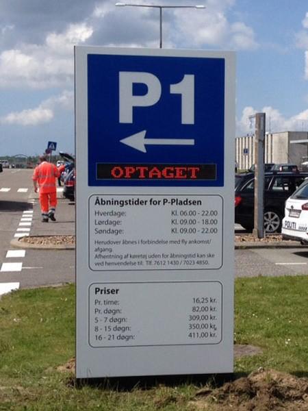 Esbjerg Lufthavn Parkeringsstander