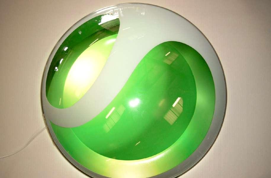 3D logoskilt med lys - Sony