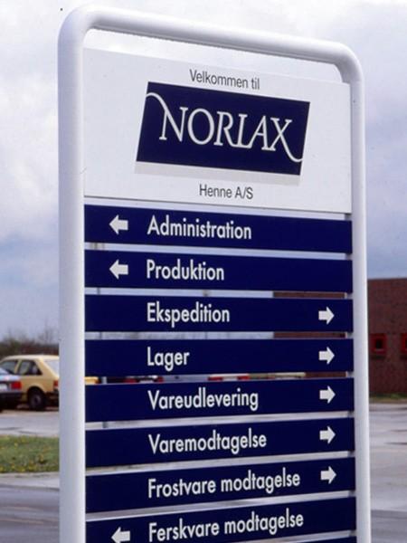 Norlax standerskilt - med udskiftelige paneler
