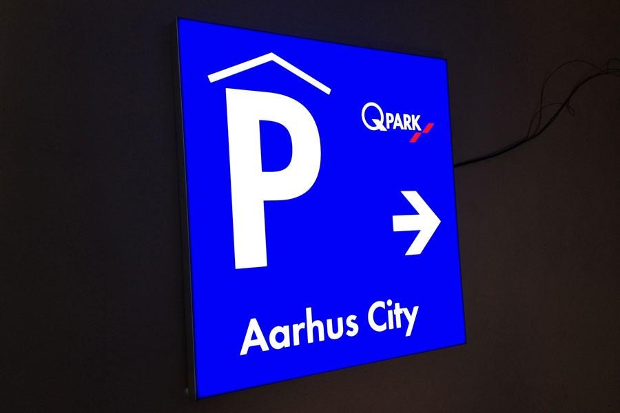Aarhus city parkingsskilt