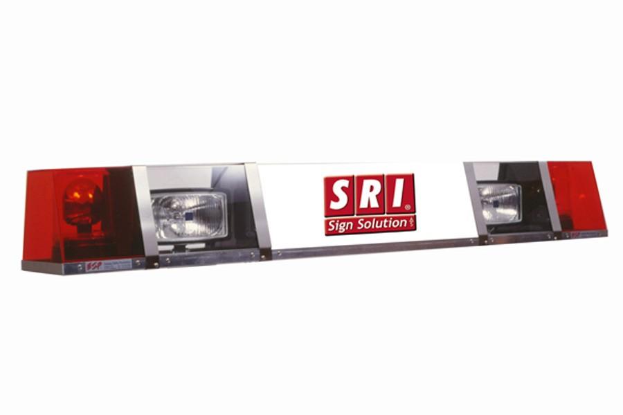 Klassisk SRI SignalSignLED® lysskilt med rotorblink og fjernlygter