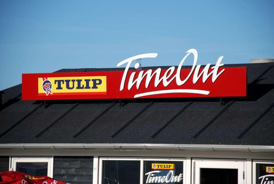 Skilte til taget - Tulip TimeOut