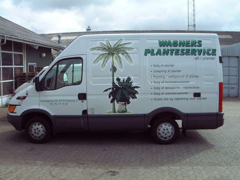 Bilreklame - Folietekst på varevogn