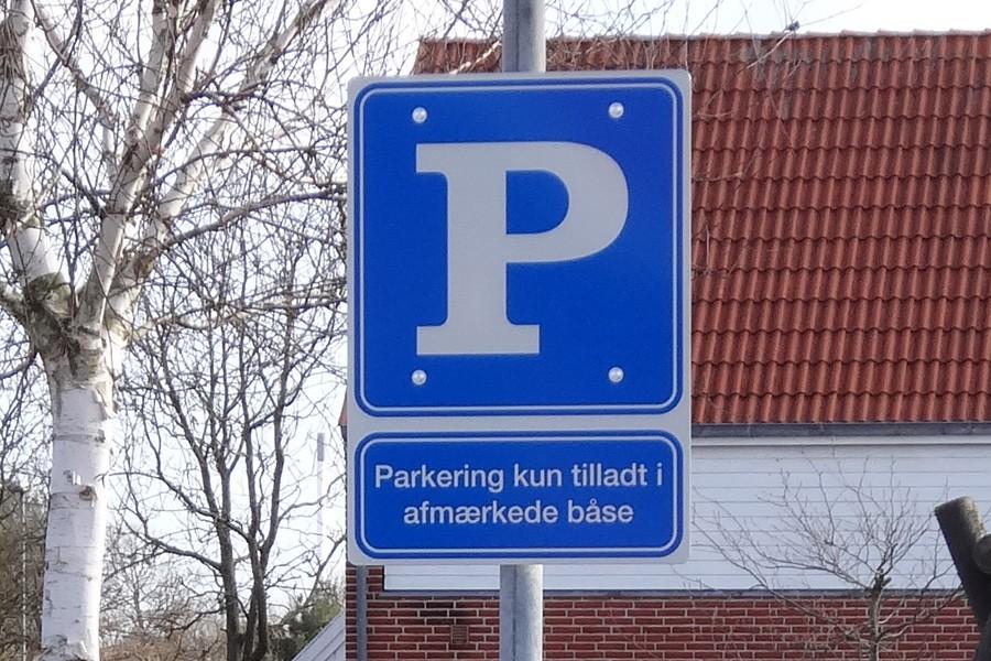 Plan aluminiumsskilt - parkering