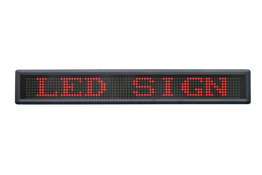 Lysavis med én tekstlinje - røde LED dioder