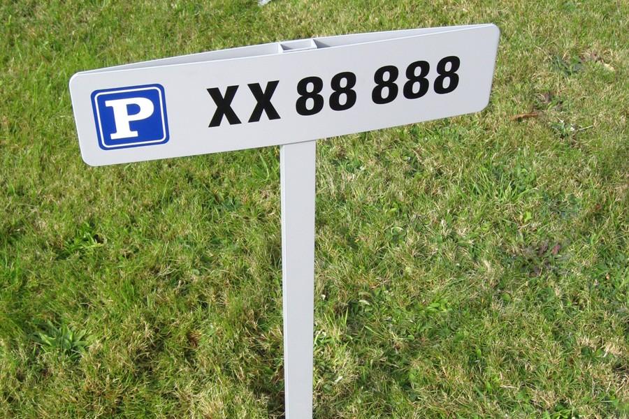 Aero Parkeringsspyd - nummerplade