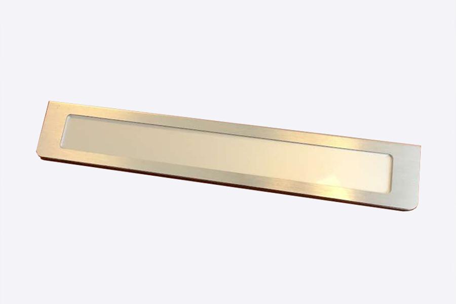 Skiltesystem Prestige - V Bordskilt RF stål look (Aluminium)