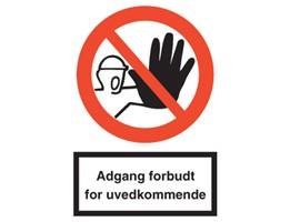 Tydelige skilte med advarsler