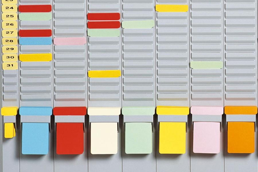 T-kort-holder - til opbevaring af t-kort nederst på modulerne