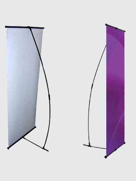 Sort L-Banner (160x60 cm)