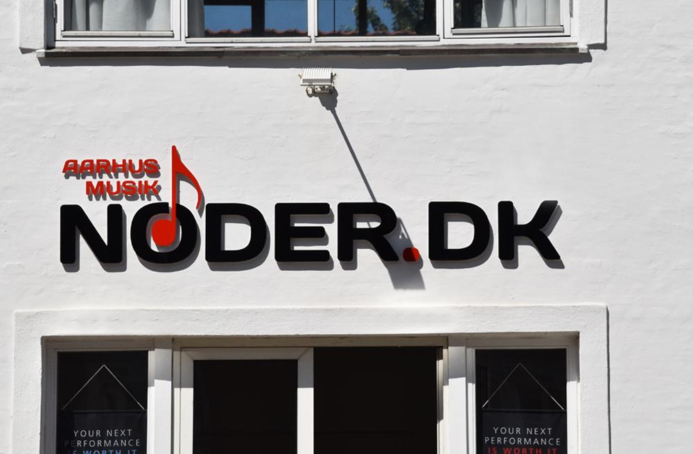 Facadebogstaver i aluminium - Noder.dk