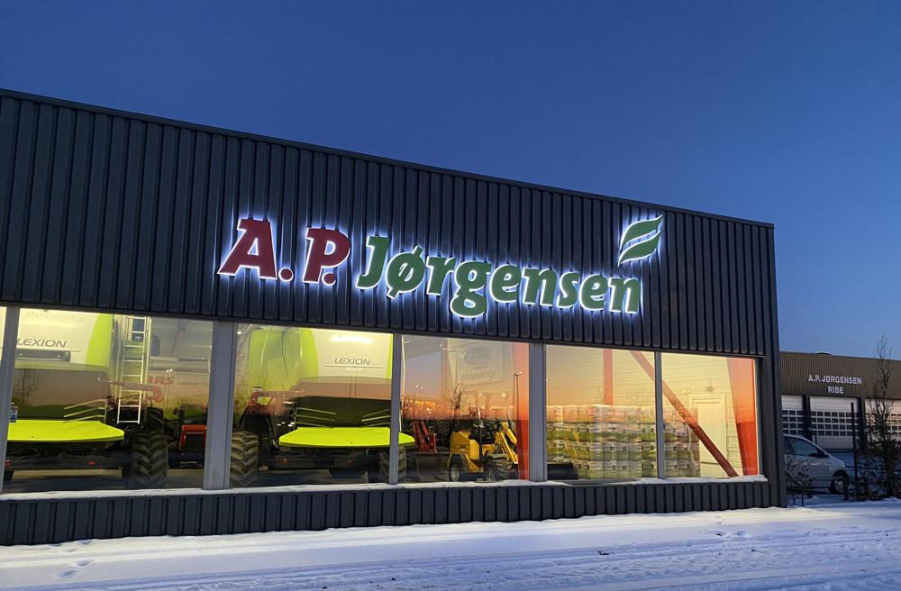 CoronaLux® bogstaver med lys - A. P. Jørgensen, Ribe