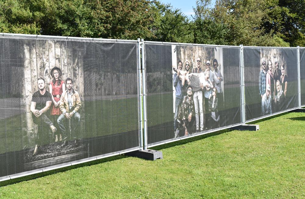 Netbannere - udendørs bannere leveret til festival