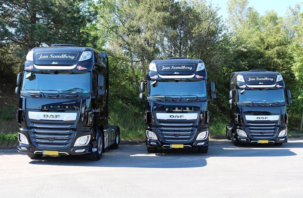 FrontsignLED® - monteret på DAF lastvogn