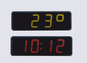 Tid temperatur displays - ure