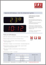 Tid og temperatur display - LED